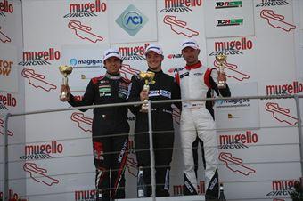Podio TCR gara 1, kevin Giacon (Opel Astra TCR TCR #15) , Eric Scalvini (MM Motorsport,Honda Civic TCR TCR #9),  Plamen Kralev (Kraf Racing,Audi RS3 LMS TCR #44), TCR ITALY TOURING CAR CHAMPIONSHIP