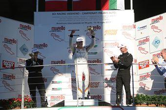 Podio TCR gara 2, Nicola Baldan (Pit Lane,Seat Leon TCR TCR #8), kevin Giacon (Opel Astra TCR TCR #15),  Plamen Kralev (Kraf Racing,Audi RS3 LMS TCR #44) , TCR ITALY TOURING CAR CHAMPIONSHIP
