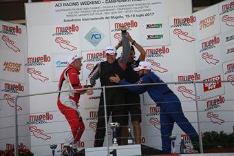 Podio TCT gara 1, Raimondo Ricci (Sport & Comunicazione by Autostar,PeugeoT 308 MI16 TCT#104), Arduini Sabbatini (Arduini Corse,PeugeoT 308 MI16 TCT#103), Farina Mauriello (Arduini Corse,PeugeoT 308 MI16 TCT#102) , TCR ITALY TOURING CAR CHAMPIONSHIP