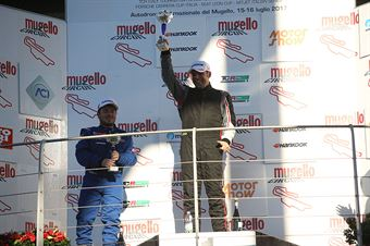 Podio TCT gara 2, Raimondo Ricci (Sport & Comunicazione by Autostar,PeugeoT 308 MI16 TCT#104),Gianluca Mauriello (Arduini Corse,PeugeoT 308 MI16 TCT#102) , TCR ITALY TOURING CAR CHAMPIONSHIP