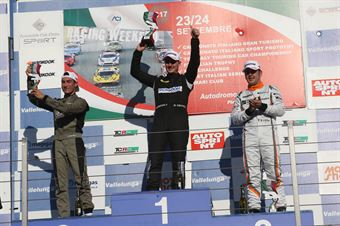 Podio gara 1, kevin Giacon (Opel Astra TCR TCR #15), Davide Nardilli (MM Motorsport,Honda Civic TCR TCR #46), Nicola Baldan (Pit Lane,Seat Leon TCR TCR #8) , TCR ITALY TOURING CAR CHAMPIONSHIP
