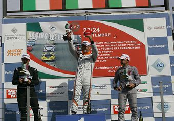 Podio gara 2, Nicola Baldan (Pit Lane,Seat Leon TCR TCR #8), kevin Giacon (Opel Astra TCR TCR #15), Max Mugelli (Pit Lane,Audi RS3 LMS TCR #3) , TCR ITALY TOURING CAR CHAMPIONSHIP