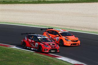 kevin Giacon (Opel Astra TCR TCR #15), Nicola Baldan (Pit Lane,Seat Leon TCR TCR #8) , TCR ITALY TOURING CAR CHAMPIONSHIP