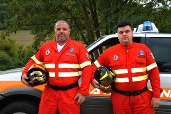 Steven Antonioli e Valentino Bracci , antincendio e decarcerazione partenza, CAMPIONATO ITALIANO VEL. SALITA AUTO STORICHE