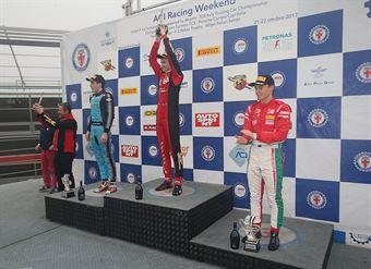 Podio gara 2, Artem Petrov (DR Formula,Tatuus F.4 T014 Abarth #42), Job Van Uitert  (Jenzer Motorsport,Tatuus F.4 T014 Abarth #16), Marcus Armstrong (Prema Power Team,Tatuus F.4 T014 Abarth #9)           , ITALIAN F.4 CHAMPIONSHIP POWERED BY ABARTH