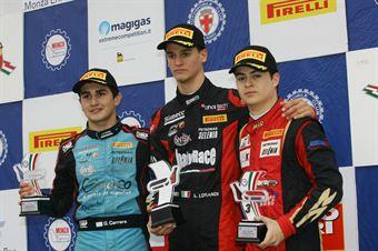 Podio Rookie gara 2, Leonardo Lorandi (Baithech Srl ,Tatuus F.4 T014 Abarth #11), Giorgio Carrara (Jenzer Motorsport,Tatuus F.4 T014 Abarth #18)        , ITALIAN F.4 CHAMPIONSHIP POWERED BY ABARTH