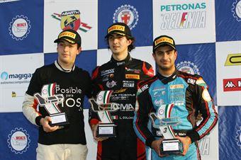 Podio gara 3, Lorenzo Colombo (Bhaitech Srl,Tatuus F.4 T014 Abarth #6), Kush Maini (Jenzer Motorsport,Tatuus F.4 T014 Abarth #15)      , ITALIAN F.4 CHAMPIONSHIP POWERED BY ABARTH