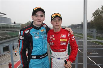 Marcus Armstrong (Prema Power Team,Tatuus F.4 T014 Abarth #9), Job Van Uitert  (Jenzer Motorsport,Tatuus F.4 T014 Abarth #16)         , ITALIAN F.4 CHAMPIONSHIP POWERED BY ABARTH