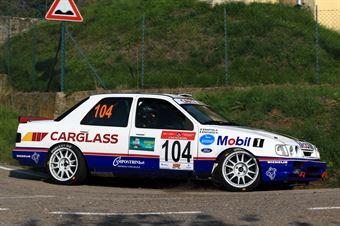 Patuzzo Nicola,Martini Alberto(Ford Sierra RS,Tram Bassano,#104), CAMPIONATO ITALIANO RALLY AUTO STORICHE