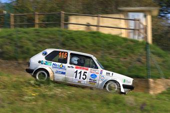 Giudicelli Giuseppe Massimo,Ferrari Paola(Volskwagen golf,Team Bassano,#115), CAMPIONATO ITALIANO RALLY AUTO STORICHE
