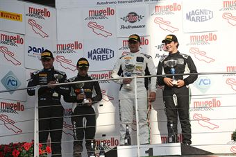 Gara 1 podio S.GT, Perolini Valente (Antonelli Motorsport,Lamborghini Huracan S.GTCup #102), Cenedese Galbiati (Antonelli Motorsport,Lamborghini Huracan S.GTCup #103) , CAMPIONATO ITALIANO GRAN TURISMO