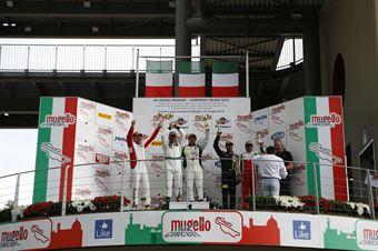 Podio GTCup gara 2, Pisani Sauto (Porsche 997 Cup My 12 GTCup #176), Di Benedetto Guagliardo (Porsche 997 Cup S.GTCup #163) , CAMPIONATO ITALIANO GRAN TURISMO