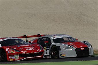 Baruch Fassler (Audi Sport Italia,Audi R8 LMS GT3 #7), Fisichella Gai (Scuderia Baldini 27,Ferrari 488 GT3 #27) , CAMPIONATO ITALIANO GRAN TURISMO