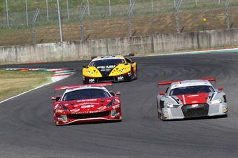 Fisichella Gai (Scuderia Baldini 27,Ferrari 488 GT3 #27), Baruch Fassler (Audi Sport Italia,Audi R8 LMS GT3 #7) , CAMPIONATO ITALIANO GRAN TURISMO