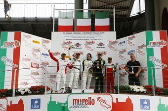 Podio GTCup gara 2, Pisani Sauto (Porsche 997 Cup My 12 GTCup #176), Nicolosi La Mazza  (Ebimotors,Porsche 991 GT3#169), Di Benedetto Guagliardo (Porsche 997 Cup S.GTCup #163) , CAMPIONATO ITALIANO GRAN TURISMO