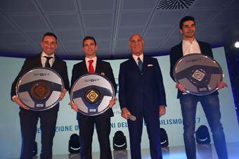 SImone Faggioli Volante di Bronzo, Alessandro Pier Guidi Volante d'Oro, Paolo De Conto Volante d'Argento, TCR DSG ENDURANCE