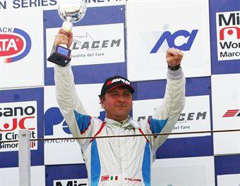 Gara 1 podio, Marco Pellegrini (Team Dinamic, SEAT Leon Eurocup B2 0T #16),Meloni Tresoldi (W&D Racing Team,BMW M3 E46 #32), Meloni Ferraresi ( W&D Racing Team, BMW M3 E46 ##31), TCR ITALY TOURING CAR CHAMPIONSHIP