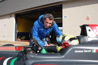 Lorenzo Ferrari (Tatuus F.4 T014 Abarth)   Niki Cadei,