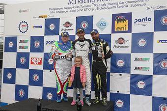 Massimiliano Gagliano (Cupra Leon TCR DSG #7), Ermanno Dionisio (Pit Lane Competizioni,Audi RS3 LMS #9), Francesco Savoia (GretaRacing MS,Seat Leon TCR #26) , TCR ITALY TOURING CAR CHAMPIONSHIP