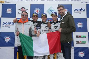 Salvatore Tavano (Cupra Leon TCR SEQ #4), Massimiliano Gagliano (Cupra Leon TCR DSG #7), Matteo Greco ( Cupra Leon TCR SEQ #34) , TCR ITALY TOURING CAR CHAMPIONSHIP