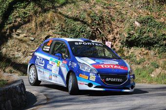 Giorgio Cogni, Gabriele Zanni (Peugeot 208 R2 #35, Meteco Corse), CAMPIONATO ITALIANO RALLY