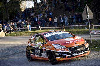Davide Nicelli, Alessandro Mattioda (Peugeot 208 R2 #28, La Superba), CAMPIONATO ITALIANO RALLY