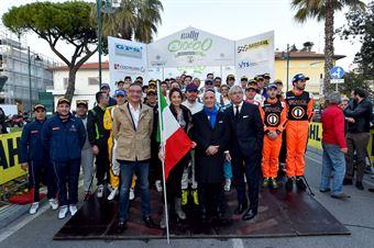 Elisa di Francisca, Presidente Angelo Sticchi Damiani, Foto Gruppo iscritti CIR 2017;, CAMPIONATO ITALIANO RALLY SPARCO