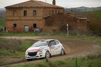 Jacopo Trevisani, Arianna Faustini (Peugeot 208 R2 #55, HP Sport), CAMPIONATO ITALIANO RALLY