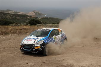 Fabio Battilani, Jasmine Manfredi (Peugeot 208 R2 #128), CAMPIONATO ITALIANO RALLY TERRA