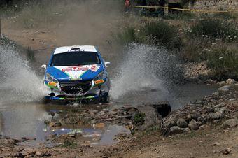 Andrea Gallu, Giuseppe Pirisinu (Peugeot 208 R2 #129), CAMPIONATO ITALIANO RALLY TERRA