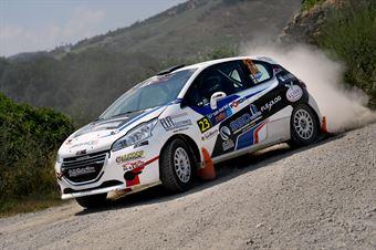 Barone Jr, Massimo Moriconi (Peugeot 208 R2 #23, Jolly Racing Team), CAMPIONATO ITALIANO RALLY TERRA
