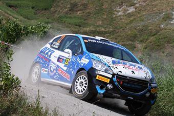 Fabio Battilani, Jasmine Manfredi (Peugeot 208 R2 #22, GR Motorsport), CAMPIONATO ITALIANO RALLY TERRA
