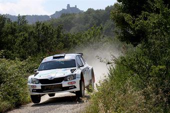 Daniele Ceccoli, Piercarlo Capolongo (Skoda Fabiia R5 #9, Scuderia San Marino), CAMPIONATO ITALIANO RALLY TERRA