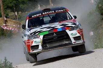 Mattia Codato, Christian Dinale (Mitsubishi Lancer Evo X #16, Hawk Racing Club), CAMPIONATO ITALIANO RALLY TERRA