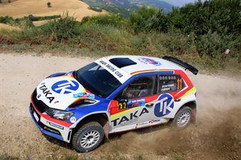 Giacomo Costenaro, Justin Bardini (Skoda Fabia R5 #11, Hawk Racing Club), CAMPIONATO ITALIANO RALLY TERRA