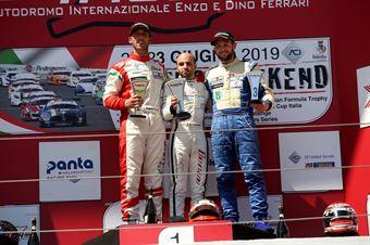 Gara 1 Giacomo Pollini (ASD Giacomo Race,Wolf GB08 Thunder #6) Riccardo Ponzio (SG Motors,Wolf GB08 Thunder #71) Claudio Giudice (Scuderia Giudici,Wolf GB08 Thunder #2), CAMPIONATO ITALIANO SPORT PROTOTIPI
