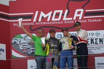Podio gara 2 Giacomo Pollini (ASD Giacomo Race,Wolf GB08 Thunder #6)Mirko Zanardini (Bad Wolves Racing Club,Wolf GB08 Thunder #12)Claudio Giudice (Scuderia Giudici,Wolf GB08 Thunder #2), CAMPIONATO ITALIANO SPORT PROTOTIPI