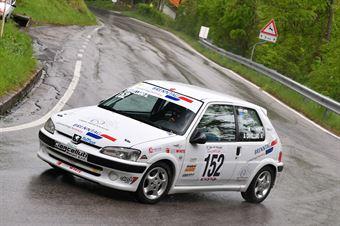 Andrea Crivellaro ( Red White, Peugeot 106 #152), CAMPIONATO ITALIANO VELOCITÀ MONTAGNA