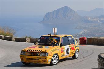 Francesco Melia ( Team Autom. Phoenix, Peugeot 205 #143), CAMPIONATO ITALIANO VELOCITÀ MONTAGNA