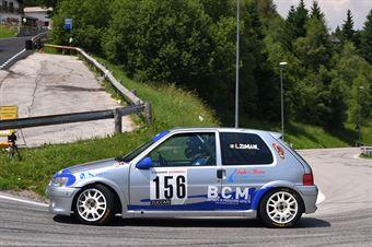 Luca Zumiani ( Alby Racing Team, Peugeot 106 #156, CAMPIONATO ITALIANO VELOCITÀ MONTAGNA