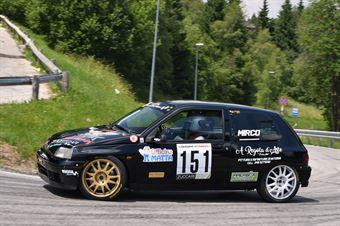 Lozzer Mirco ( Motor Team, Renault Clio #151), CAMPIONATO ITALIANO VELOCITÀ MONTAGNA