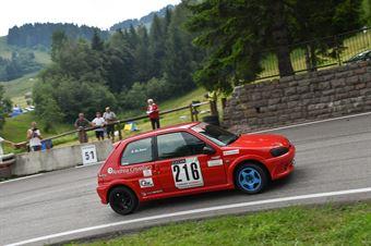De Petri Danio ( Peugeot 106 S16, BL Racing #216), CAMPIONATO ITALIANO VELOCITÀ MONTAGNA