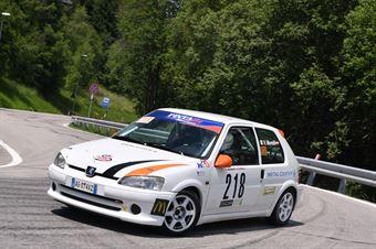 MORELLI Valentino ( Pintarally Motorsport, Peugeot 106 #218), CAMPIONATO ITALIANO VELOCITÀ MONTAGNA