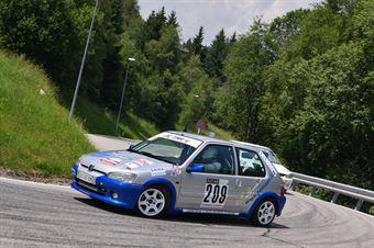 ANESI David (Destra 4, Peugeot 106 S16 #209), CAMPIONATO ITALIANO VELOCITÀ MONTAGNA