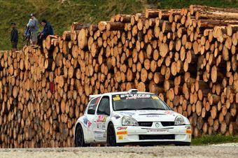 Roberto Vescovi, Giancarla Guzzi (Renault Clio S1600 #38, GR Motorsport), CAMPIONATO ITALIANO WRC