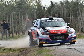Corrado Fontana, Nicola Arena (Hyundai i20 WRC #1. Bluthunder), CAMPIONATO ITALIANO WRC