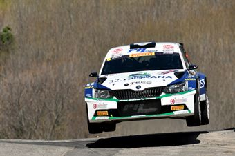 Corrado Pinzano, Marco Zegna (Skoda Fabia R5 #18, Eurospeed), CAMPIONATO ITALIANO WRC