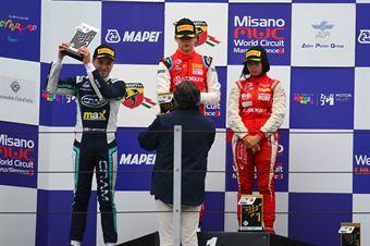 Podio Rookie gara 1 Gianluca Petecof (Prema Powerteam,Tatuus F.4 T014 Abarth #5) Roee Meyuhas (Cram Motorsport,Tatuus F.4 T014 Abarth #55) Amna Al Qubaisi (Abu Dhabi Racing,Tatuus F.4 T014 Abarth #88), ITALIAN F.4 CHAMPIONSHIP POWERED BY ABARTH