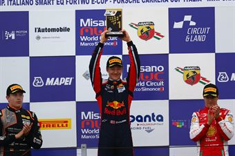 Podio gara 2 Dennis Hauger (Van Amersfoort Racing BV,Tatuus F.4 T014 Abarth #62)Niklas Krutten (Van Amersfoort Racing BV,Tatuus F.4 T014 Abarth #4), Gianluca Petecof (Prema Powerteam,Tatuus F.4 T014 Abarth #5), ITALIAN F.4 CHAMPIONSHIP POWERED BY ABARTH