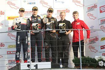 Podio gara 2, Dennis Hauger (Van Amersfoort Racing BV,Tatuus F.4 T014 Abarth #62)Roman Stanek (US Racing,Tatuus F.4 T014 Abarth #97)Ido Cohen (Van Amersfoort Racing BV,Tatuus F.4 T014 Abarth #6), ITALIAN F.4 CHAMPIONSHIP POWERED BY ABARTH